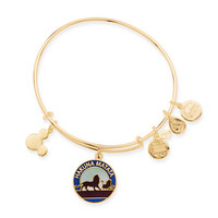 Disney Parks Lion King Hakuna Matata Charm Bangle Alex & Ani Gold New With Tags