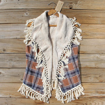 Fable & Plaid Fringe Vest
