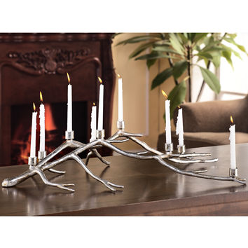 Branched Aluminum Centerpiece Candelabra for Nine Candle Sticks by SPI-HOME