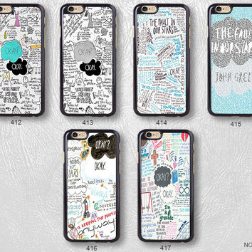 The Fault In Our Stars Okay Quote Protective Phone Case For iPhone case & Samsung case, H12