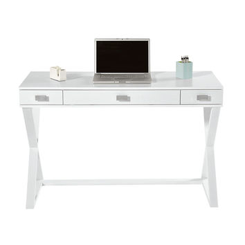 See Jane Work Kate Writing Desk 30 H x 47 14 W x 23 58 D White by Office Depot