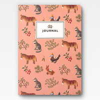 Farm Animals Journal - Peach -