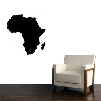 Africa Continent large wall Vinyl Design Decal - Wall art Decor