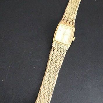 ONETOW OMEGA DeVille LADIES VINTAGE GOLD WATCH