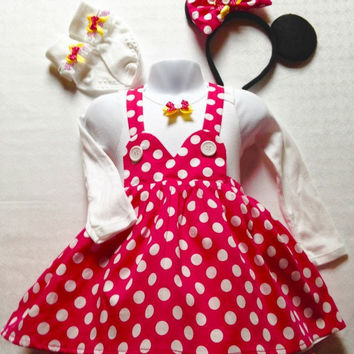 Minnie Mouse Costume, Minnie Mouse Dress, Baby Minnie Mouse, Toddler dress, Birthday Gift idea, Baby Photo Shoot, baby dress, Baby dresses