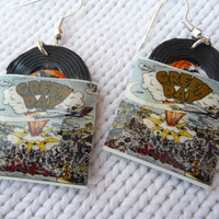 Green Day  vinyl record miniature earrings