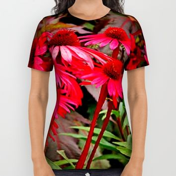 Echinacea flower All Over Print Shirt by Jessica Ivy