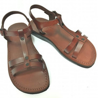 Brown leather sandals, women shoes, leather shoes, flat shoes, camel sandals, handmade leather sandals, wedding sandals