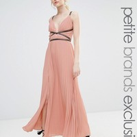 True Decadence Petite | True Decadence Petite Grecian Style Maxi Dress In Pleat Fabric at ASOS