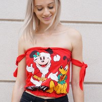 Reworked Mickey & Pluto Tube Top