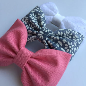 Cute hair bows for teens from Seaside Sparrow. Hair bows for teens hair bows for girls accessory, gift for her hair