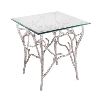 Metropolitan Side Table Nickel Plate