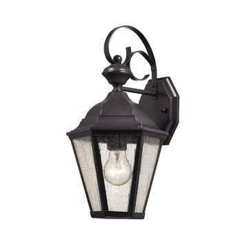 Cotswold 1 Light Outdoor Wall Sconce In Oil Rubbed Bronze