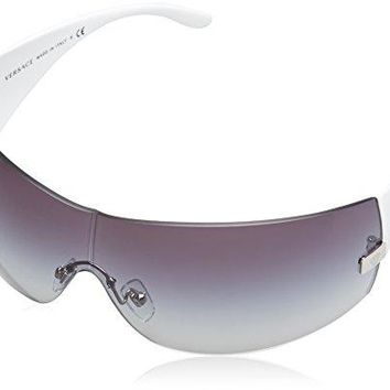 33a85cec90c2 New Authentic VERSACE SUNGLASSES White Frame 2054 1000 8G Dark G