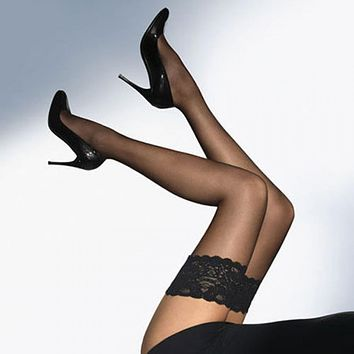 1 Pair Summer Lady Fashion Sexy Women Stylist Fashion Ladies Lace Top Tights Stay Up Thigh High Stockings Nightclubs Pantyhose