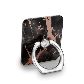 Black Marble Rose Gold Chrome Phone Ring