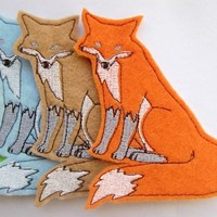 Iron on Patch Set of 5 Fox Appliques