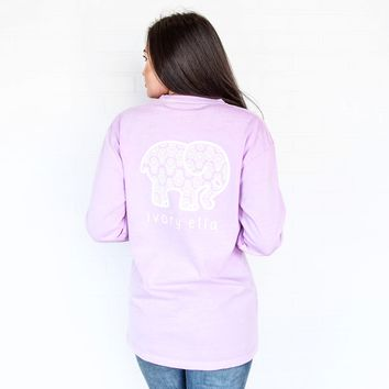 Classic Fit Neon Purple Hamsa Tee