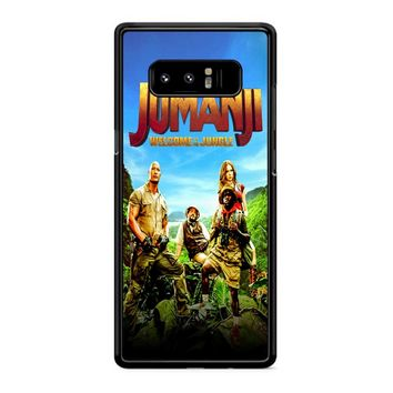 Jumanji Welcome The Jungle Poster Samsung Galaxy Note 8 Case