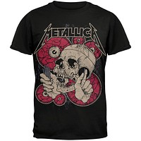 Metallica - Skull With Nails Soft T-Shirt