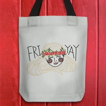 fri-yay - printed tote bag