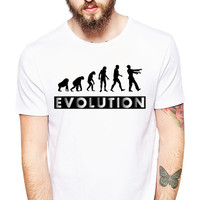Funny Tshirt - Zombie Shirt - Zombie Apocalypse - Evolution - Darwin - Walkers - Dead People - Funny Evolution Tshirt - Funny Zombie Tee