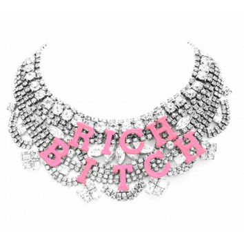 RICH BITCH SMALL NECKLACE - Tom Binns