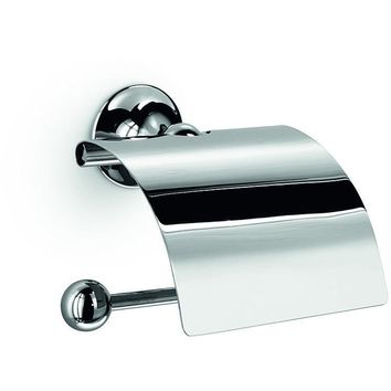 LB Wall Toilet Paper Holder W/ Lid Cover Tissue Roll Dispenser - Two Finishes