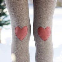 My Valentine Heart Leggings // size small