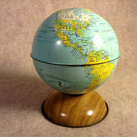 J. Chein Bank Globe Vintage Litho - All Metal J. Chein and Company made in USA