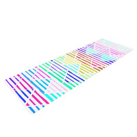 "Sreetama Ray ""Stripes Cushion"" Rainbow Chevron Yoga Mat"