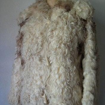 Vintage Mongolian Sheep Fur Jacket