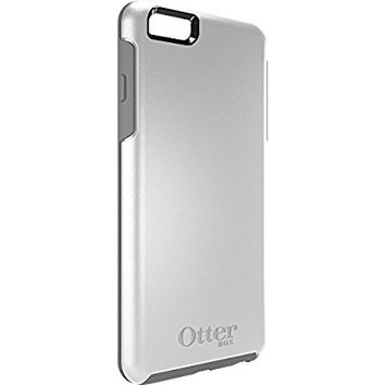 "OtterBox SYMMETRY SERIES Case for iPhone 6 Plus/6s Plus (5.5"" Version) - Retail Packaging - GLACIER (WHITE/GUNMETAL GREY)"