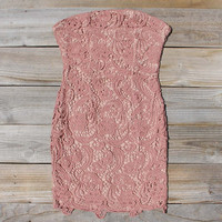 Wild Horses Lace Dress in Dusty Pink