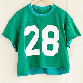 Vintage Cropped #28 Jersey Tee- Assorted One