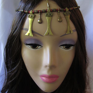 Headpiece and Hair Swags Tribal Headpiece
