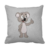 Pillow with koala bear cartoon