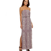 Gianni Bini Sansa Embroidered Maxi Dress - Mauve