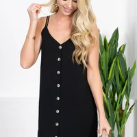 Vintage Back Tie Dress | Black