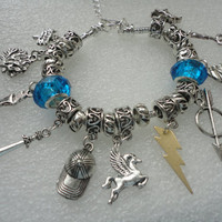 Bead Charm Bracelet - Percy Jackson Themed