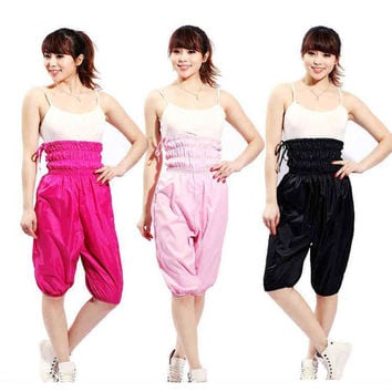 Woman Women High Waist Sauna Pants Weight Loss Aerobics Clothing Slimming Pants Loose Weight Clothing Sauna Suit