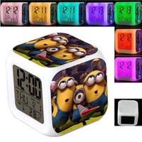 Despicable Me Minions 7 Colour Change Clock Thermometer