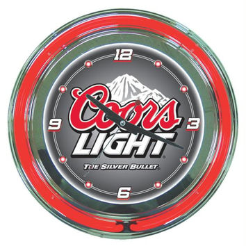 Coors Light 14-inch Neon Wall Clock
