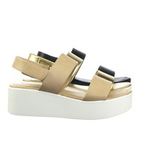 Promote by City Classified Flatform Hook & Loop Sandal w Thick Platform & Sling Back