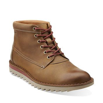 Newby Jump in Cognac Leather - Mens Boots from Clarks