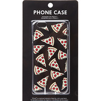 Clear Pizza Print Phone Case
