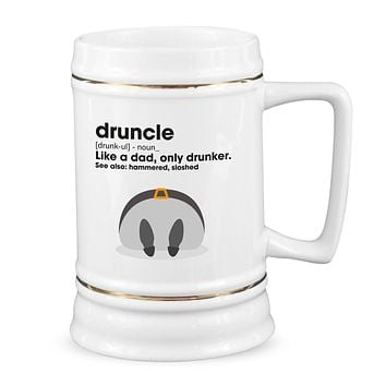 Druncle Mug Drunkle Beer Mug Stein Funny Uncle Gifts