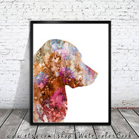 Golden Retriever 6 Watercolor Print, Children's Wall, Art Home Decor, dog watercolor, watercolor painting, Retriever art, animal watercolor