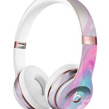 Marbleized Soft Pink and Blue Paradise Full-Body Skin Kit for the Beats by Dre Solo 3 Wireless Headphones