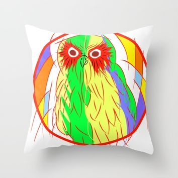 Owl Throw Pillow by Mrnobody